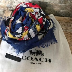 Coach Accessories - Beautiful Disney X Coach Scarf NWT